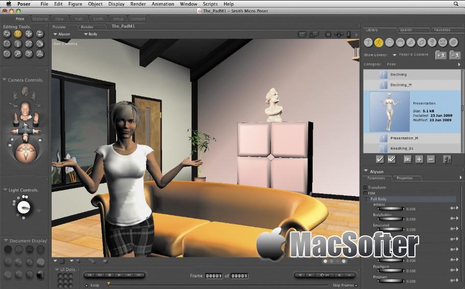 [Mac] Smith Micro Poser Pro : 人物三维3D动画设计工具