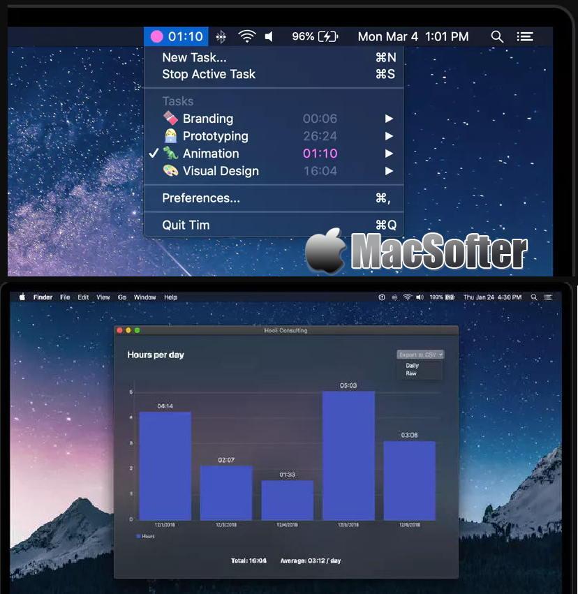 [Mac] Tim : 简单方便的时间跟踪统计软件