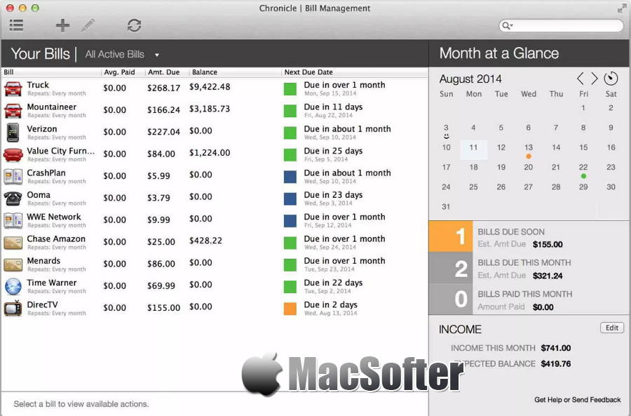 [Mac] Chronicle : 实用的财务记账管理软件