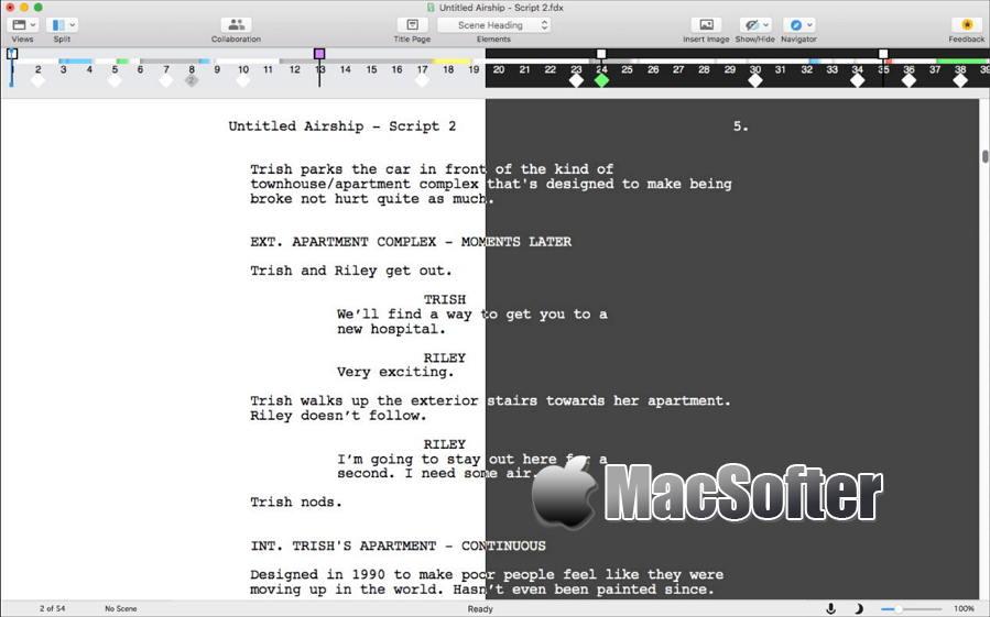 [Mac] Final Draft : 剧本写作软件