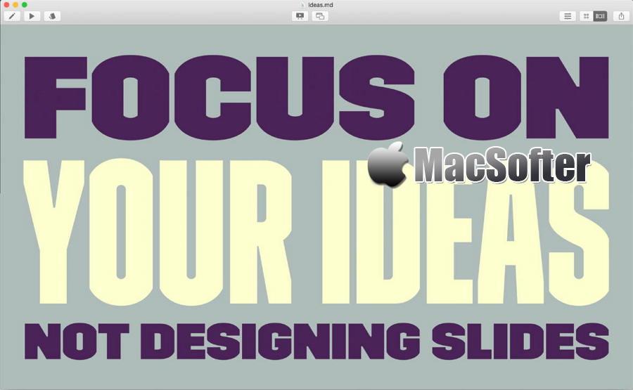 [Mac] Deckset :幻灯片制作软件