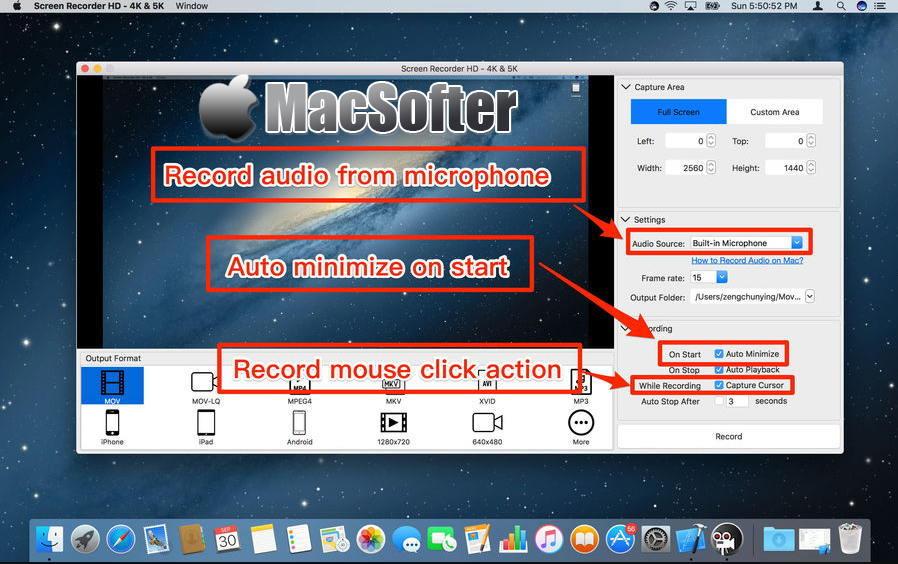 [Mac] Easy Screen Recorder HD : 支持4K/5K的屏幕录像软件