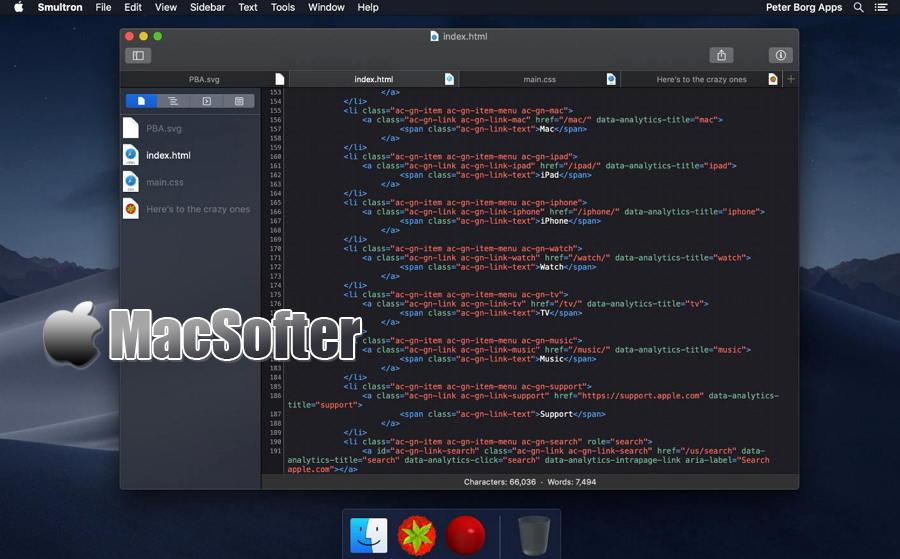 [Mac] Smultron : 方便好用的代码及文本编辑器