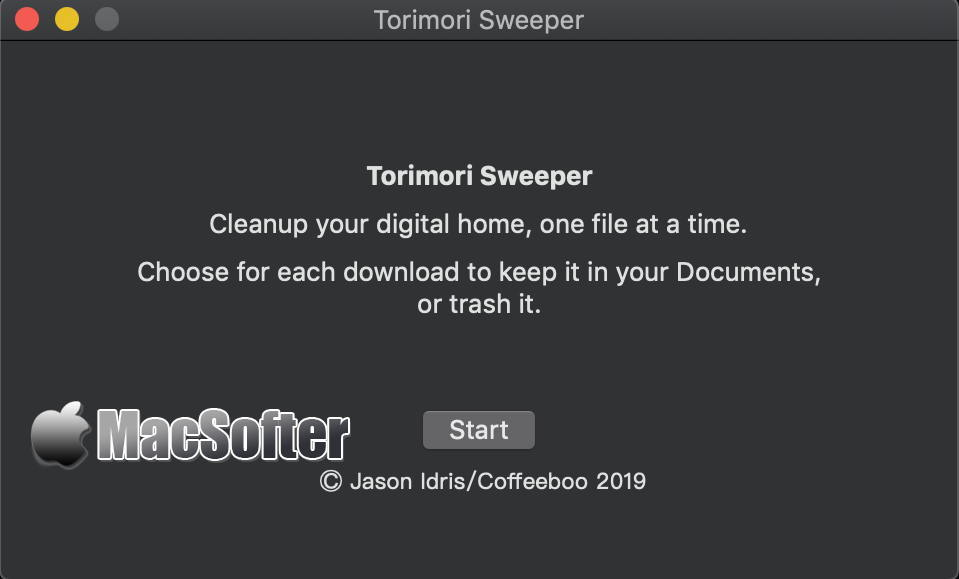 [Mac] Torimori Sweeper : 下载文件夹清理工具