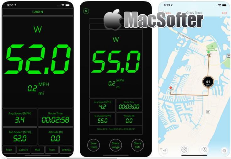 [iPhone/iPad限免] Speed PRO+ : 基于GPS的速度计软件