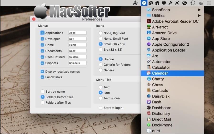 [Mac] XMenu : 菜单栏的快速访问和快速启动工具