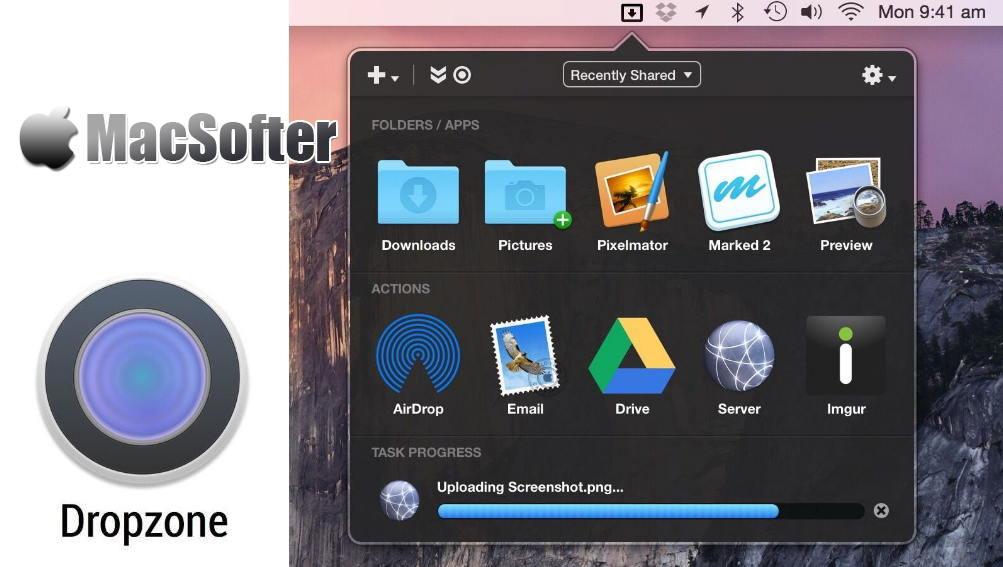 [Mac] Dropzone : 集成了文件中转站功能的快速启动工具