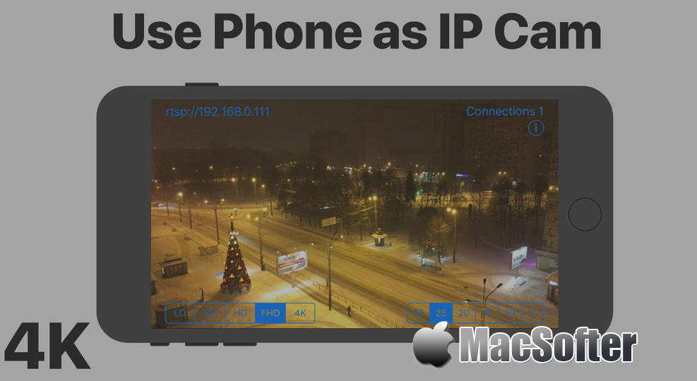 [iPhone/iPad限免] IP Cam : 把iPhone/iPad作为IP摄像头使用的软件