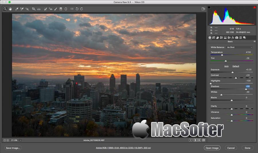 [Mac] Adobe Camera Raw : 专业强大的RAW文件编辑软件