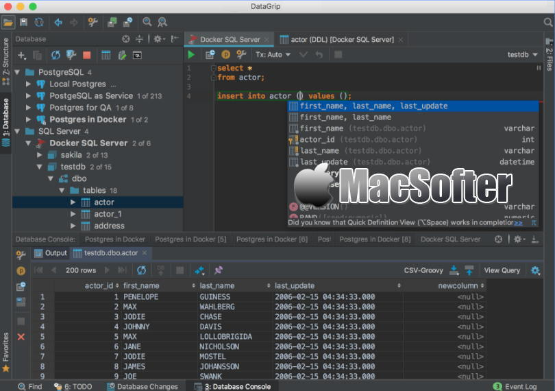 [Mac] JetBrains DataGrip : 专业的数据库管理软件