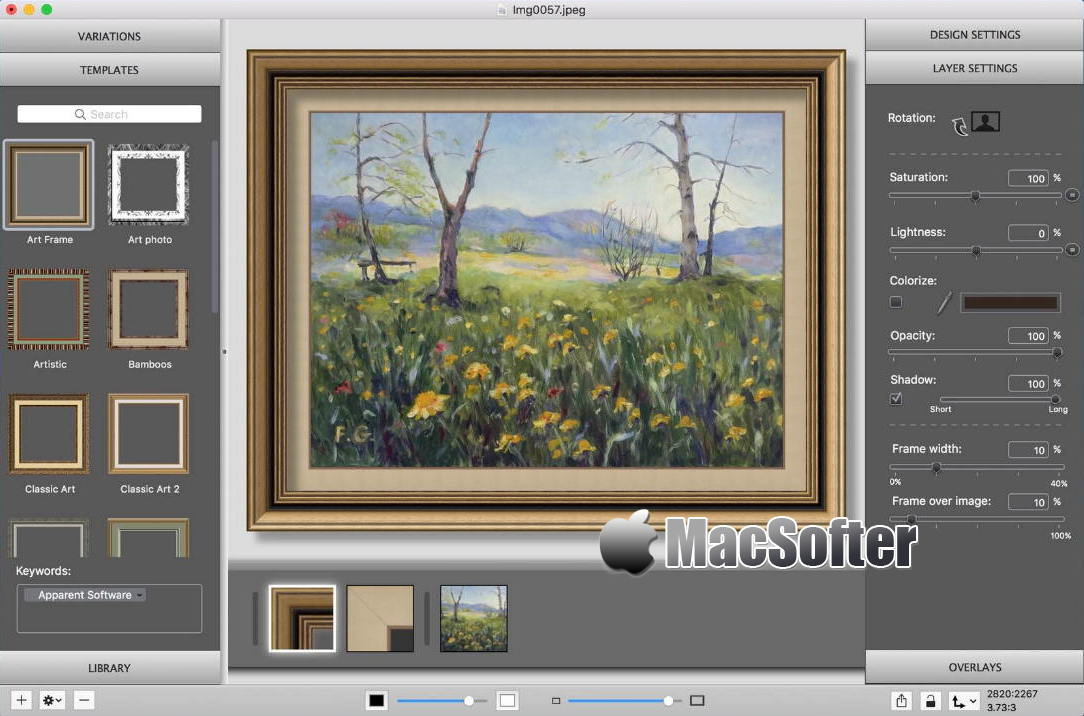 [Mac] ImageFramer : 为照片添加各种类型的相框的软件