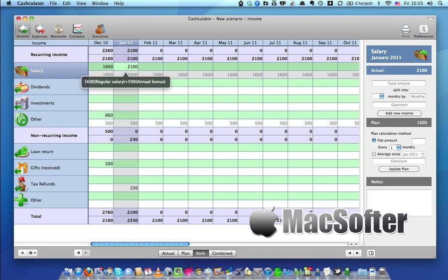 [Mac] Cashculator : 具有财务计划功能的财务管理软件