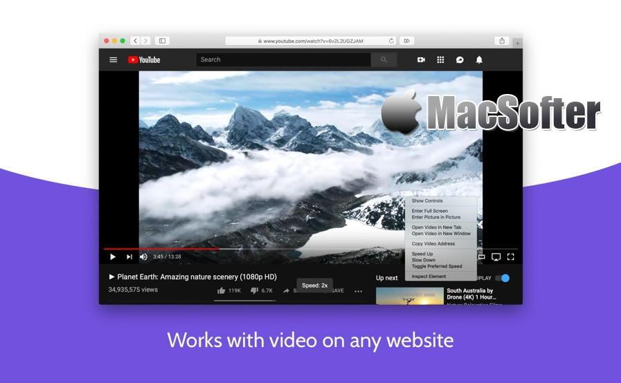 [Mac] Accelerate for Safari : Safari打开网页的视频播放速度自定义控制软件