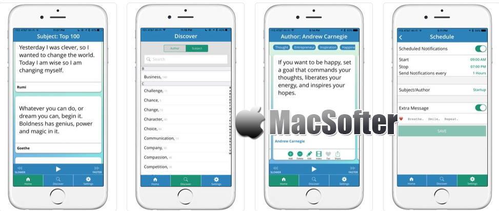 [iPhone/iPad限免] ToBeWise Pro : 英文名人名言名言警句收录软件