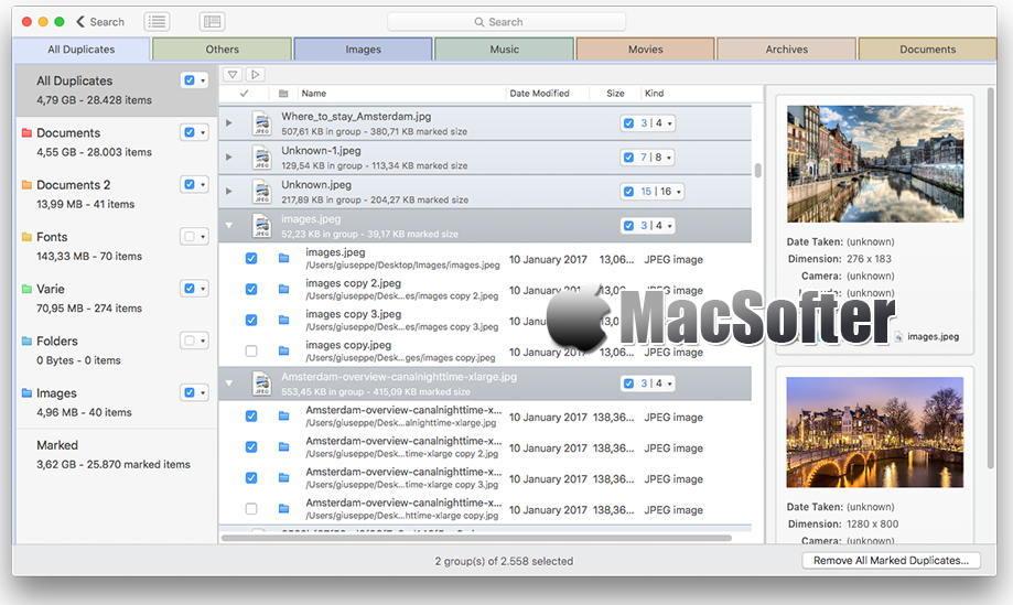[Mac] DupeZap : 重复文件清理扫描软件