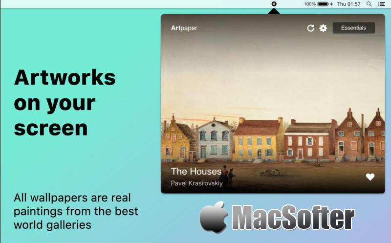 [Mac] Artpaper : 每天可自动更换的艺术画桌面壁纸软件