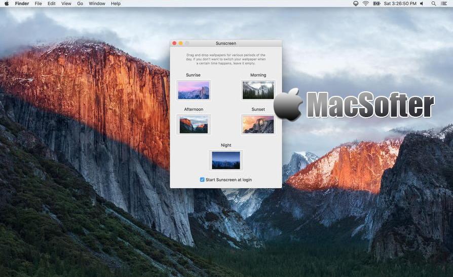 [Mac] Sunscreen :根据日出日落自动改变桌面壁纸的软件