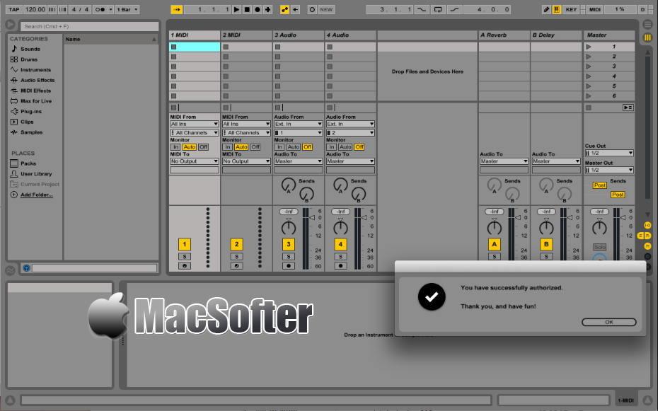 [Mac] Ableton Live Suite : 专业的音乐制作软件