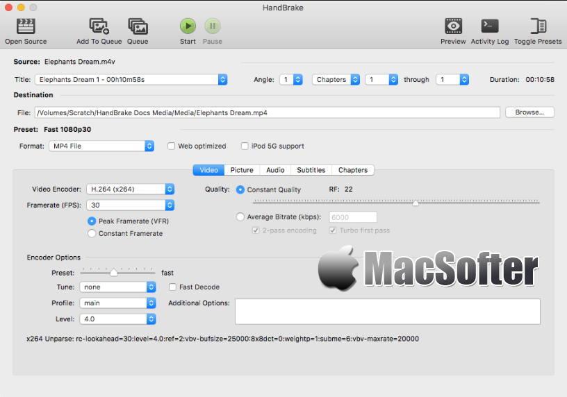 [Mac] HandBrake : 好用的视频格式转换工具