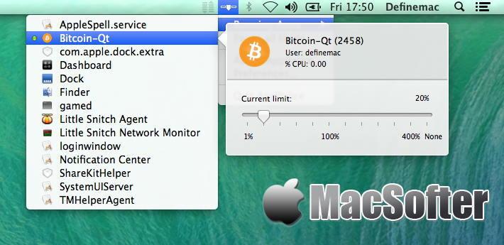 [Mac] AppPolice : 可针对每个软件单独设置的CPU使用率限制工具