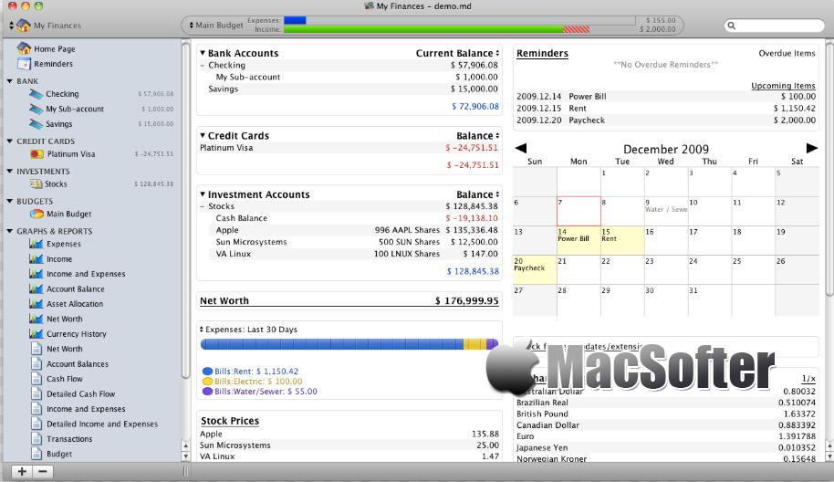 [Mac] Moneydance : 功能全面的财务管理软件