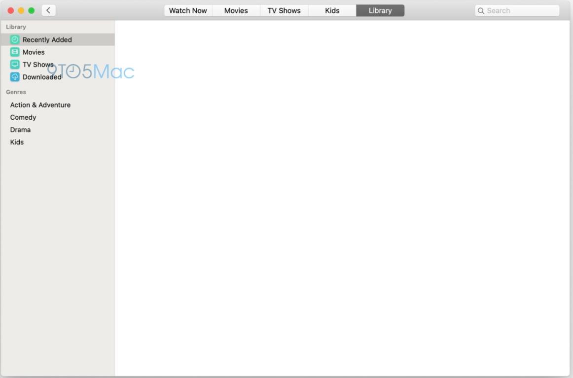 macOS 10.15搭载的全新设计的音乐、电视App UI界面曝光