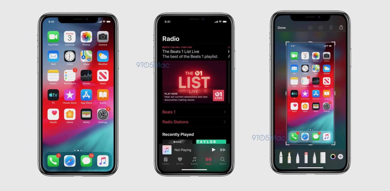 苹果iOS 13深色模式真实截图及其他四个新亮点曝光
