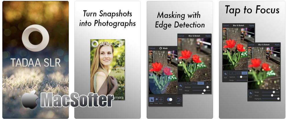 [iPhone限免] Tadaa SLR : 照片背景虚化软件