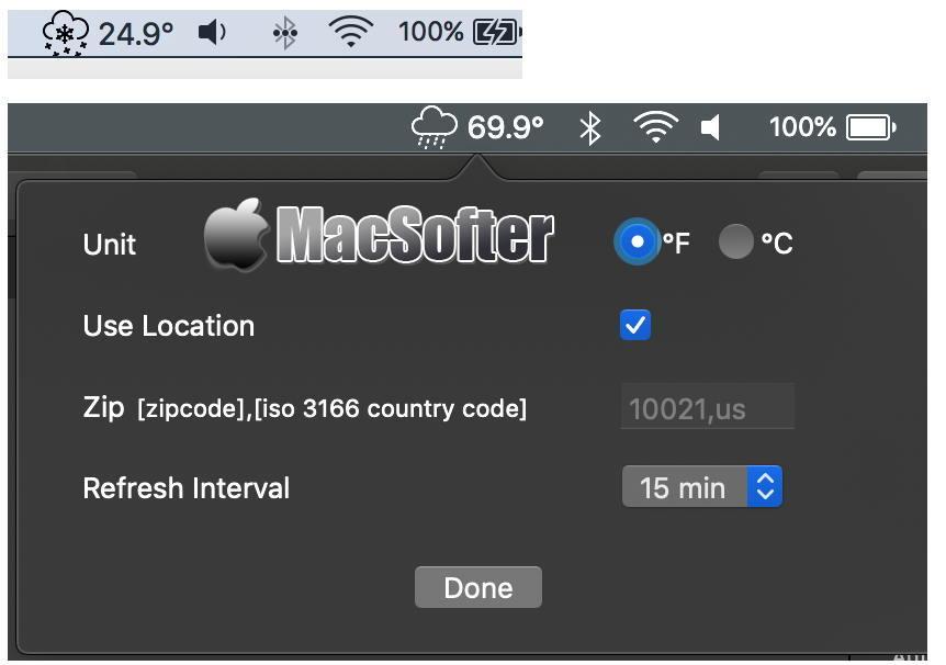 [Mac] DatWeatherDoe : 简洁的菜单栏天气预报软件