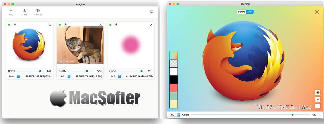 [Mac] Imagine : JPEG、PNG、WebP图片压缩工具