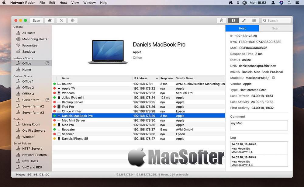 [Mac] Network Radar : 强大的网络扫描和管理工具