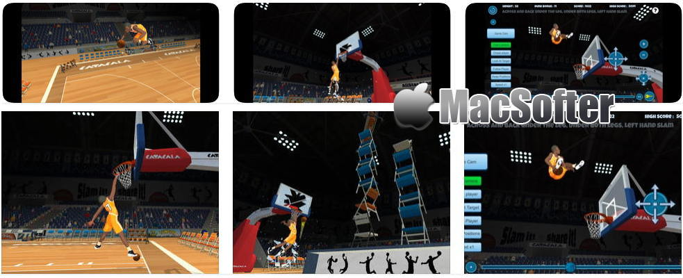 [iPhone/iPad限免] AllStarSlams : 灌篮主题的篮球游戏