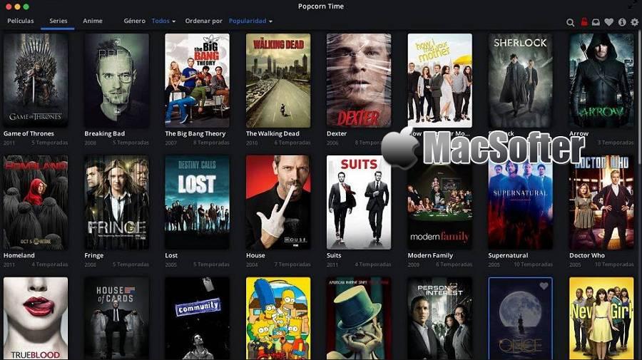 [Mac] Popcorn Time : 支持种子和磁力链播放的电影及美剧追剧视频播放器