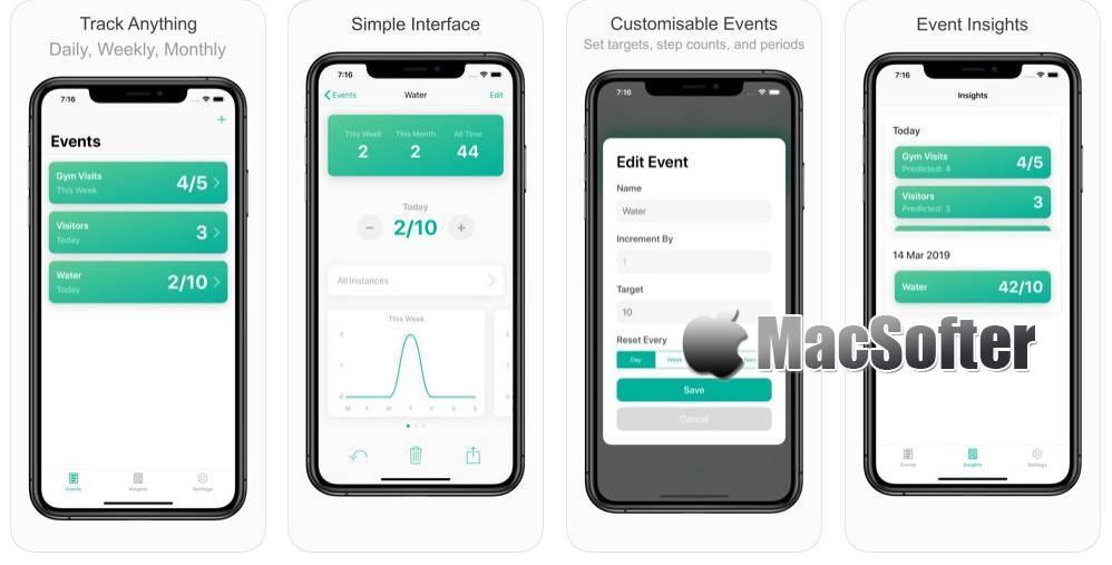 [iPhone/iPad] Sum : 运动计数追踪工具