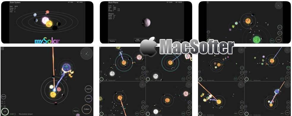 [iPhone/iPad] mySolar : 模拟太空星系的休闲游戏
