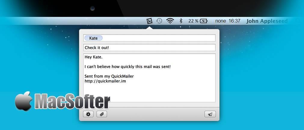 [Mac] Quickmailer : 菜单栏邮件收发工具