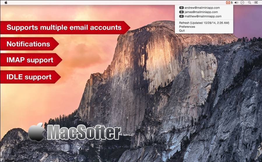 [Mac] Mail Mini : 菜单栏的邮件客户端工具