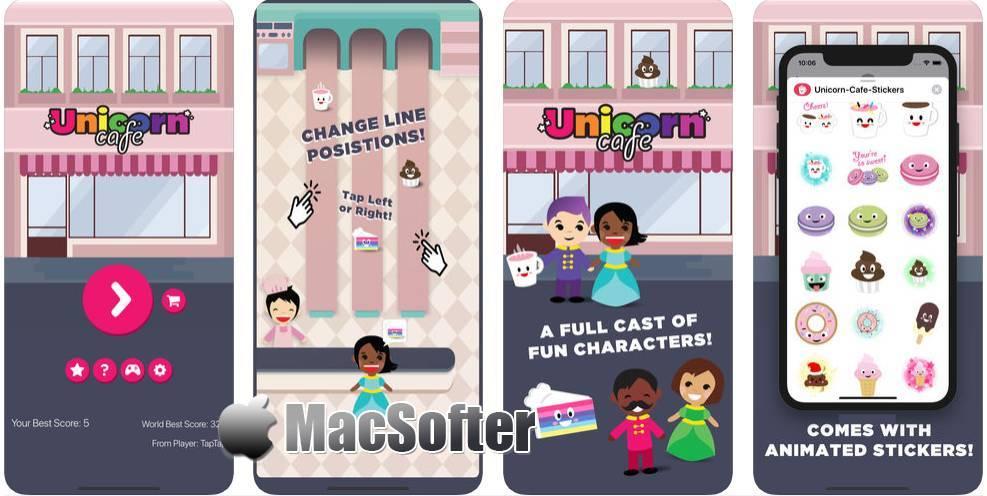 [iPhone/iPad] Unicorn Cafe : 卡通风格的反应力游戏