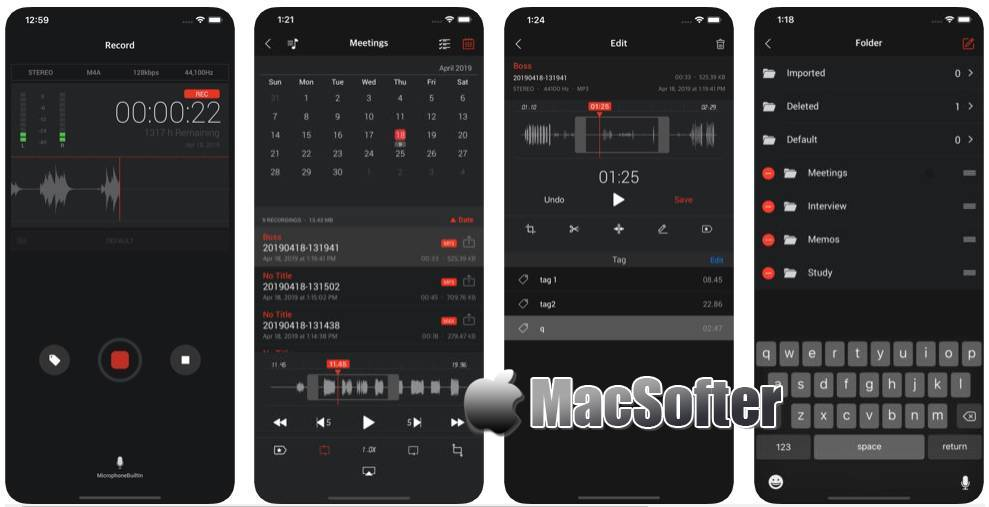 [iPhone/iPad限免] Awesome Voice Recorder X PRO : 可保存为MP3/WAV/M4A格式的高品质录音软件