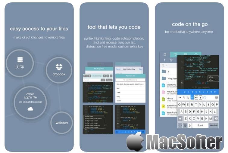 [iPhone/iPad限免] Koder Code editor : 轻量好用的代码编辑器