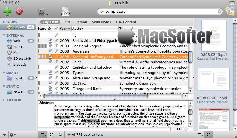 [Mac] BibDesk : Latex参考文献管理工具