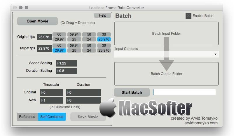 [Mac] Lossless Frame Rate Converter : 无损地改变QuickTime电影的帧速率