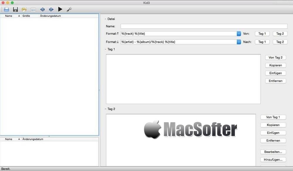 [Mac] Kid3 : 音频视频文件ID3标签批量处理编辑软件