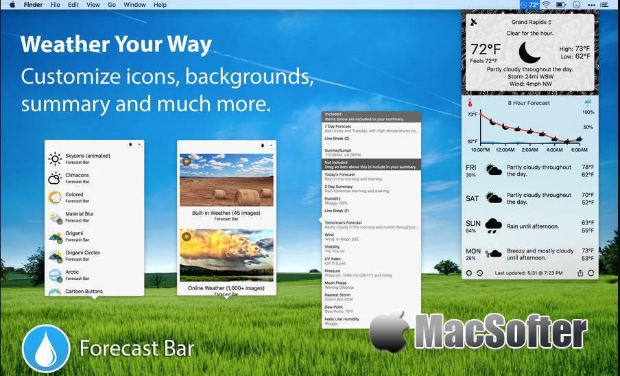 [Mac] Forecast Bar : 菜单栏的天气预报软件