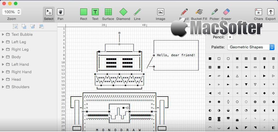 [Mac] Monodraw : ASCII艺术画编辑制作工具