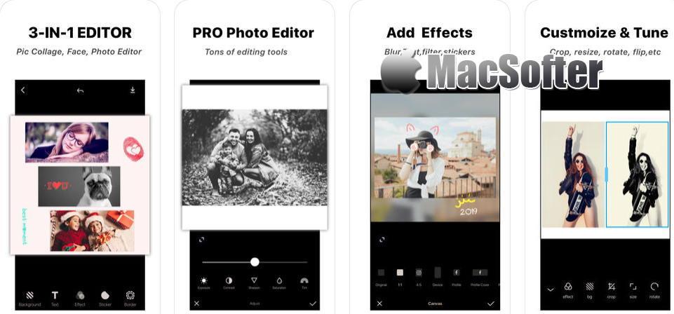 [iPhone/iPad限免] Ṗhoto Editor : 图片拼图制作和照片编辑软件