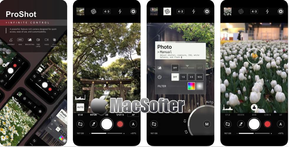 [iPhone/iPad限免] ProShot :好用的高级模式相机软件