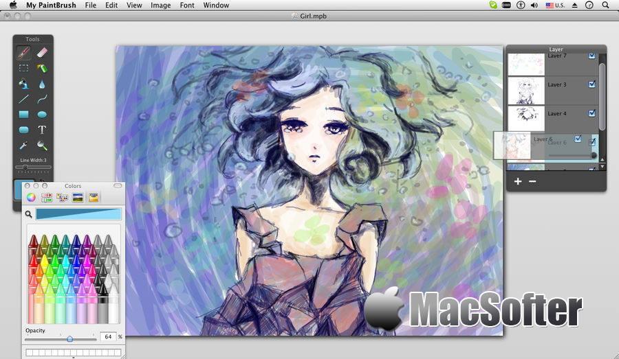 [Mac] My PaintBrush : 好用的绘画软件