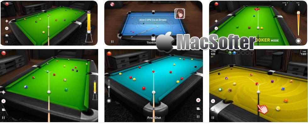 [iPhone/iPad限免] Real Pool 3D Plus : 逼真3D画面的桌球台球游戏