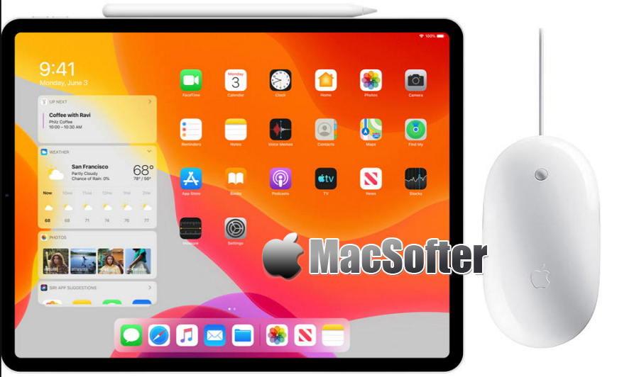 iPad在iPadOS助力下,首次加入了对鼠标的支持